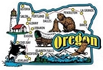 Oregon Jumbo State Map Fridge Magnet
