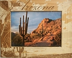 Yuma Arizona Laser Engraved Wood Picture Frame