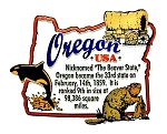 Oregon Outline Montage Fridge Magnet