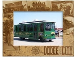 Dodge City Kansas Laser Engraved Wood Picture Frame (5 x 7)