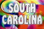 South Carolina Tye Die Fridge Magnet