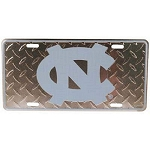 North Carolina Tar Heels Diamond Plate License Plate