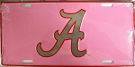 Alabama Crimson Tide Pink License Plate