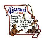 Missouri Outline Montage Fridge Magnet
