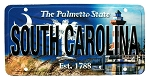 South Carolina The Palmetto State License Plate Souvenir Fridge Magnet