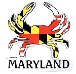 Maryland Flag Crab Shaped Artwood Fridge Magnet
