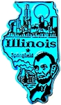 Illinois Springfield United States Fridge Magnet