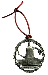 Washington D.C. with Capitol Pewter Christmas Ornament