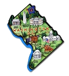 All 50 State Artwood Magnets Plus Washington DC