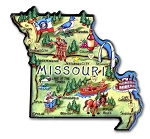 Missouri The Show Me State Artwood Jumbo Fridge Magnet