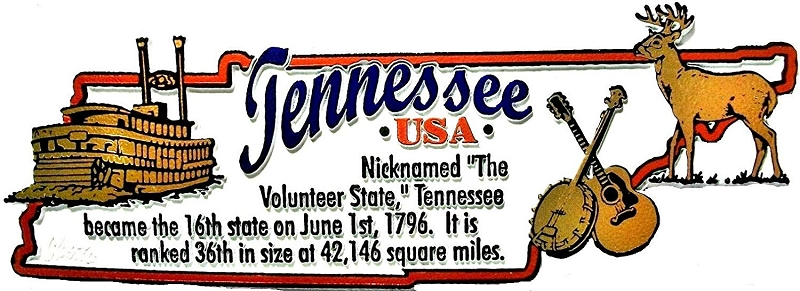Tennessee Montage Artwood Fridge Magnet