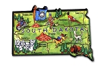South Dakota Mt. Rushmore State Artwood Jumbo Fridge Magnet