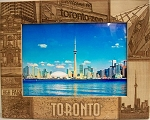 Toronto Canada Laser Engraved Wood Picture Frame