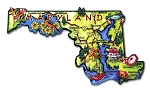 Maryland State Outline Artwood  Jumbo Fridge Magnet