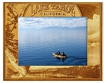 Lake Tahoe California Engraved Wood Picture Frame