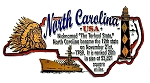 North Carolina The Tarheel State Outline Montage Fridge Magnet
