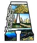 Austin Texas Capital A Collage Design Fridge Magnet