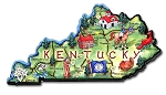 Kentucky The Bluegrass State Artwood Jumbo Fridge Magnet