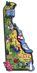 Delaware the First State Artwood Jumbo Fridge Magnet