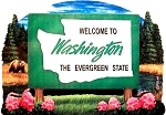 Washington State Welcome Sign Artwood Fridge Magnet