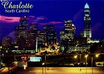 Charlotte North Carolina Skyline Fridge Magnet