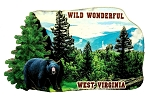 Wild Wonderful West Virginia with Black Bear Artwood Fridge Magnet