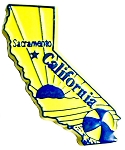 California Sacramento Fridge Magnet
