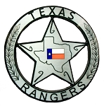 Texas Rangers Badge Fridge Magnet