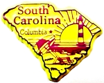 South Carolina Columbia United States Fridge Magnet