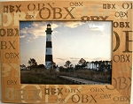 OBX Repeat Laser Engraved Wood Picture Frame (5 x 7)