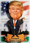 President Donald Trump Bobble Head Fridge Magnet