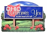 Ohio State Welcome Sign Artwood Fridge Magnet