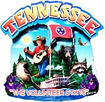 Tennessee the Volunteer State Artwood Montage Fridge Magnet