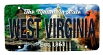 West Virginia The Mountain State License Plate Souvenir Fridge Magnet