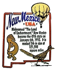 New Mexico State Outline Montage Fridge Magnet