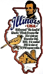 Illinois The Land of Lincoln State Outline Montage Fridge Magnet