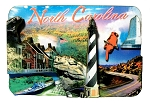 North Carolina Collage Artwood Fridge Magnet