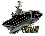 United States Navy Aircraft Carrier Fridge Magnet