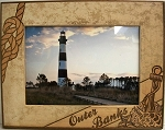 Outer Banks North Carolina with Anchor Laser Engraved Wood Picture Frame (5 x 7)