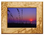 Myrtle Beach with Anchor Laser Engraved Wood Picture Frame