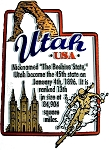 Utah State Outline Montage Fridge Magnet