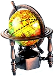 World Globe Die Cast Metal Collectible Pencil Sharpener