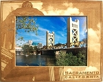 Sacramento California Laser Engraved Wood Picture Frame (5 x 7)