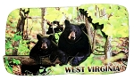 West Virginia with Black Bears Artwood Fridge Magnet