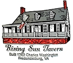 Rising Sun Tavern Fredericksburg Virginia Fridge Magnet