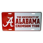 Alabama Crimson Tide Block Design License Plate