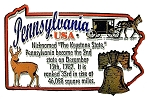 Pennsylvania the Keystone State Outline Montage Fridge Magnet