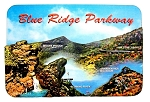 Blue Ridge Parkway North Carolina with 5 Points of Interest Artwood Fridge Magnet