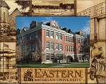 Eastern Michigan University Engraved Wood Picture Frame