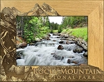 Rocky Mountain National Park with Elk Laser Engraved Wood Picture Frame (5 x 7)